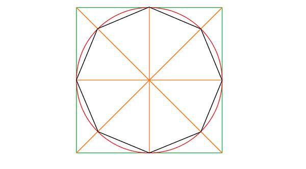 Как из круга сделать восьмиугольник