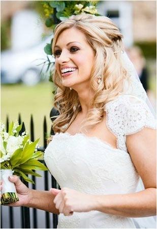 Свадебные прически на волосы чуть ниже плеч фото