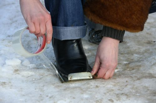 Как сделать обувь чтобы не скользила видео