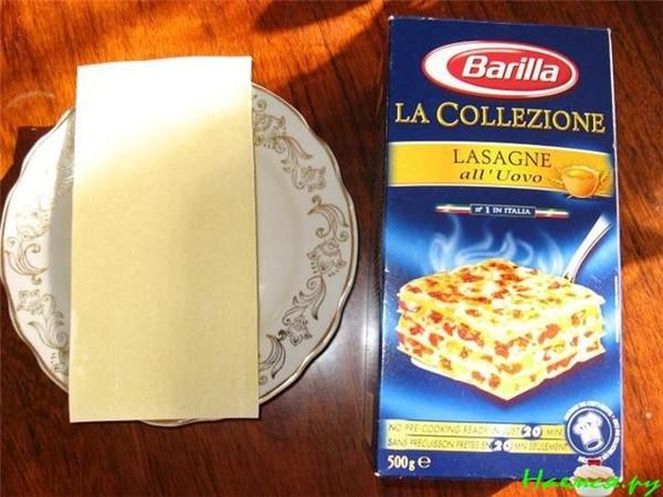 Рецепт приготовления листов для лазаньи в домашних условиях