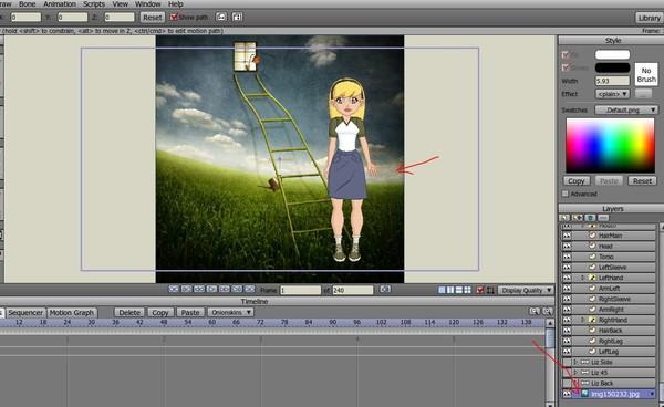 Как на наложить гиф анимацию