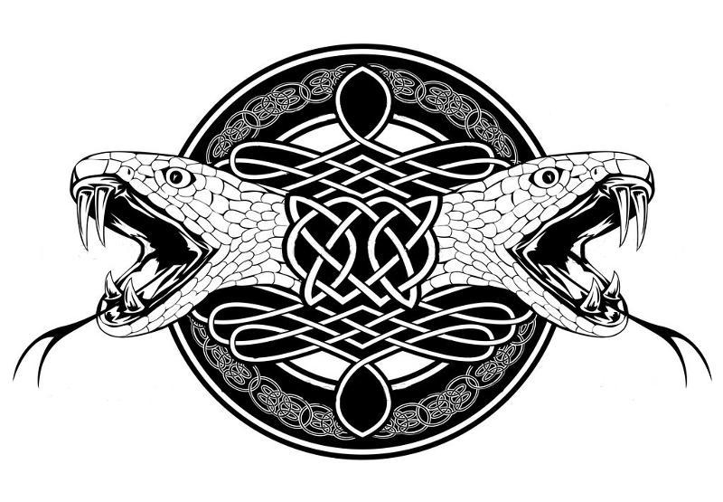 Кельтские узоры кобра
