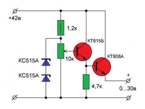 Как сделать блок питания на транзисторах