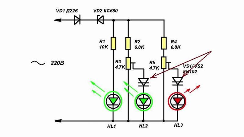 Индикатор напряжения на светодиодах