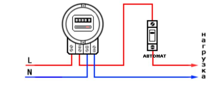 Счетчик электрический. схема подключения