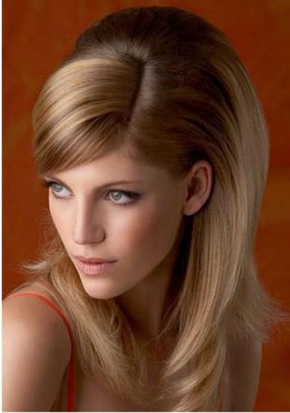 Укладка длинных волос с челкой фото в домашних условиях