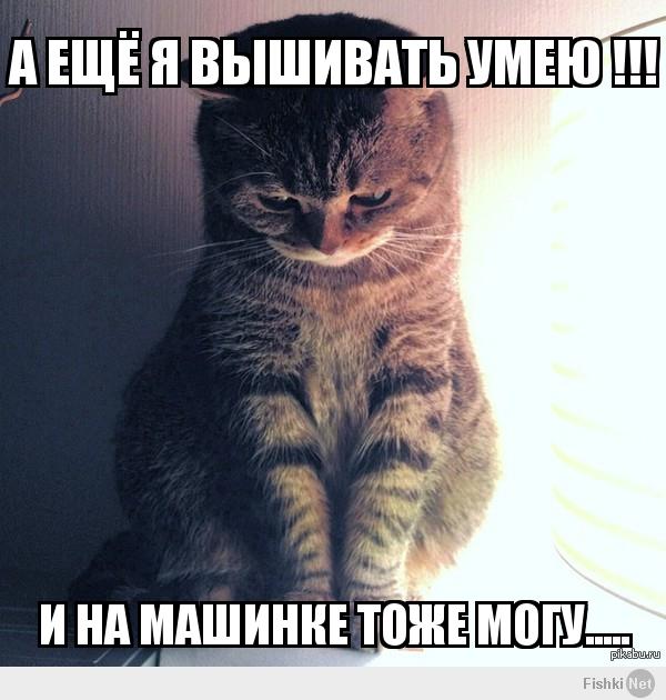 Да! и еще я крестиком вышивать умею!))))), мем крестный отец
