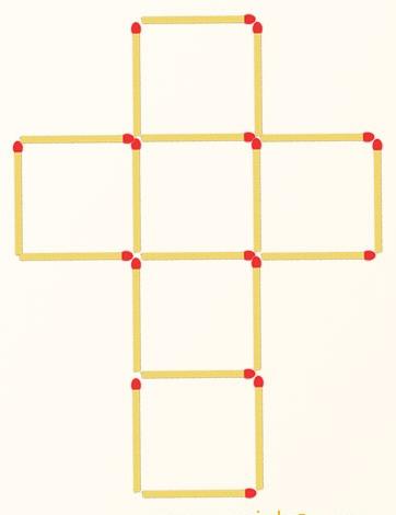 5 квадратов из спичек как сделать 4