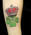 Значение тату клевер четырехлистный с короной