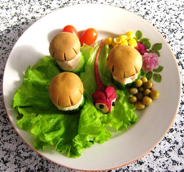 примеры оформления салатов фото