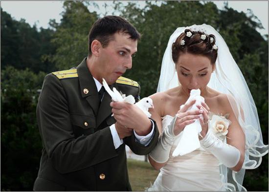 Юмор на свадьбе в фото