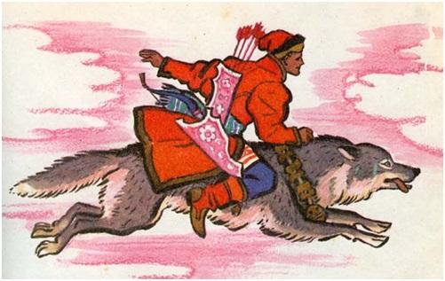 Рисунок ивана царевича на сером волке