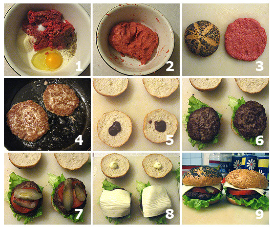 Как сделать гамбургер в домашних условиях с фото 983
