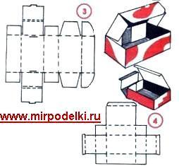 Как делать коробочки из бумаги своими руками видео
