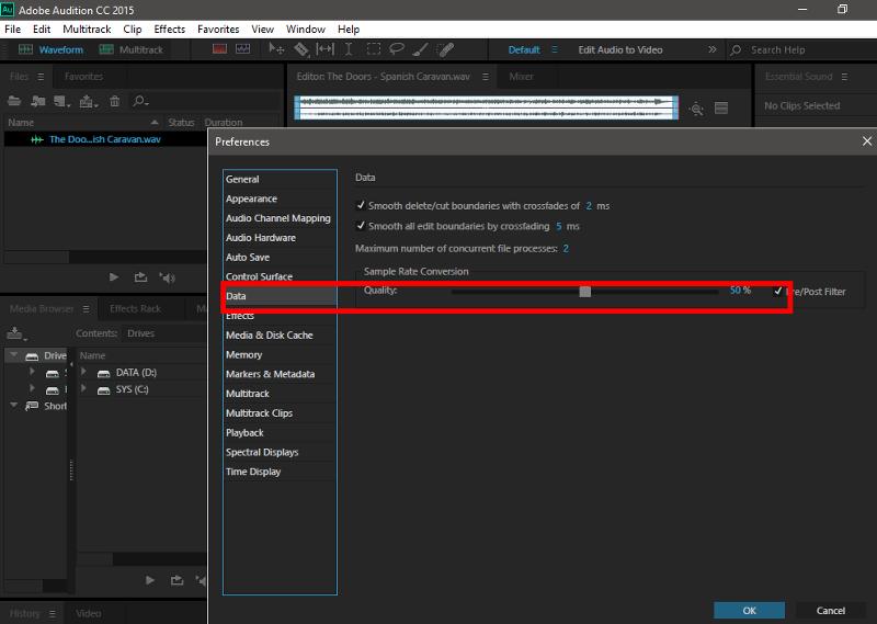 Ответы@Mail.Ru: Почему Adobe Audition 3 при использовании фильтра Time and Pitch - Scretch (обработка) обрабатывает файл некорре