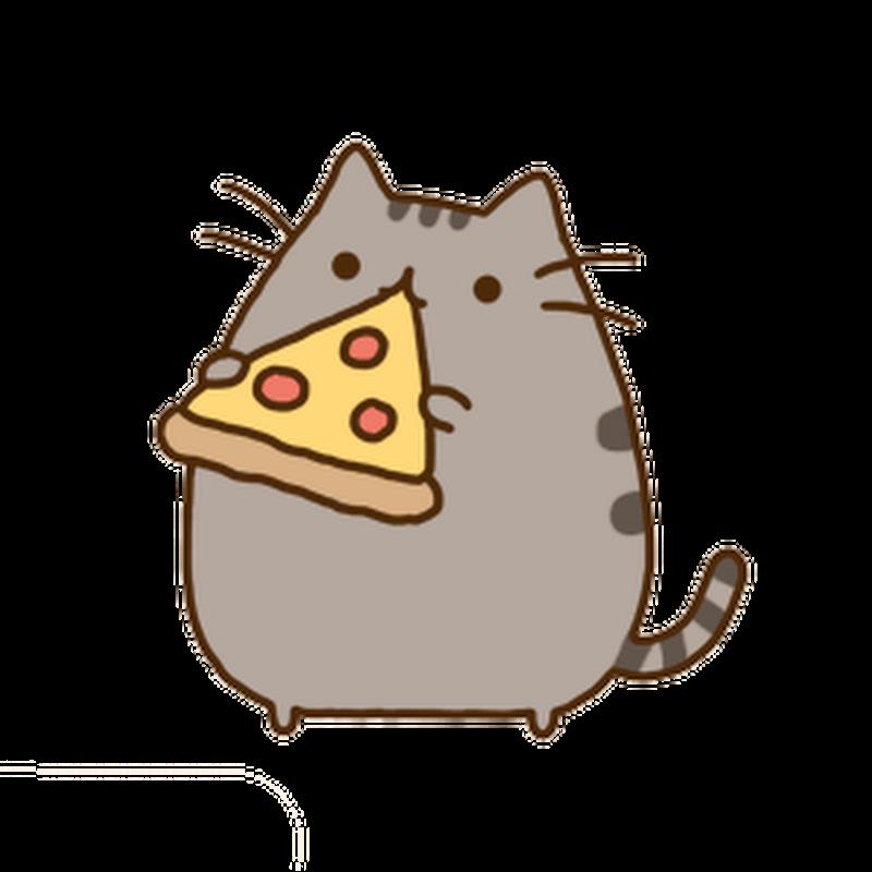 Рисунки для срисовки котик в пончике