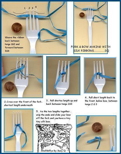 Как красиво завязать из атласной ленты своими руками