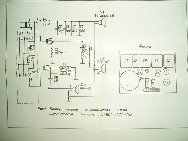 Схема подключения динамиков s90