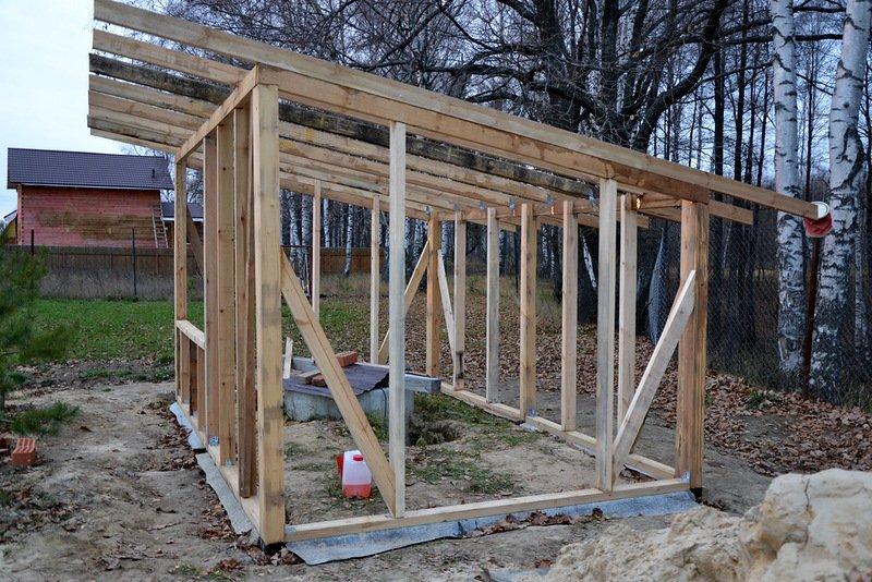 Как сделать крышу в сарае