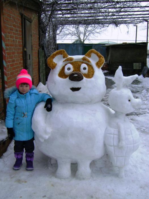 Из снега своими руками фото