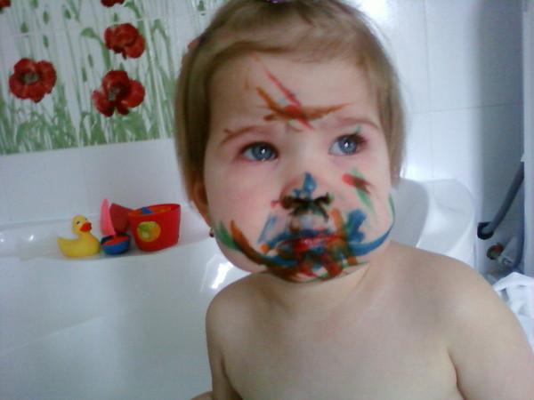 Чем стереть фломастер с лица ребенка