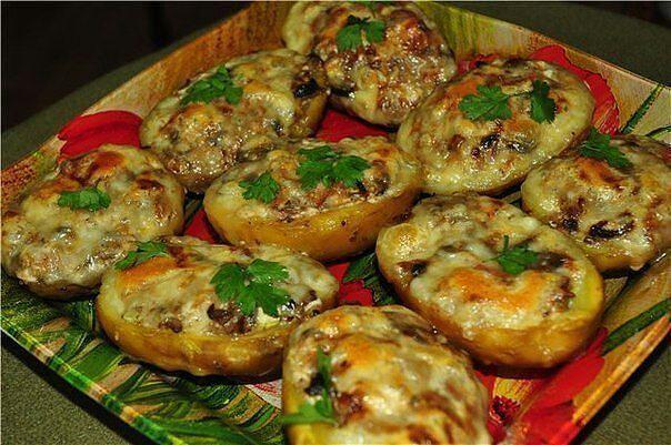 Как приготовить фаршированный картофель в духовке