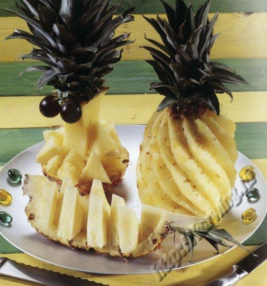 Как сделать из ананаса красиво