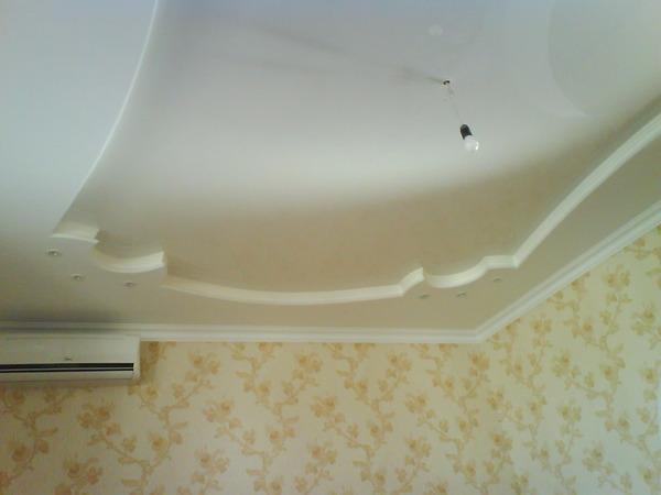 Узоры на потолках из гипсокартона фото