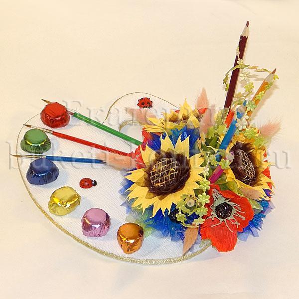 Подарок художнику из конфет