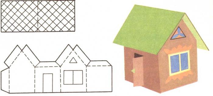 Как сделать своими руками домики из бумаги