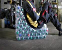 Топчан из пластиковых бутылок своими руками
