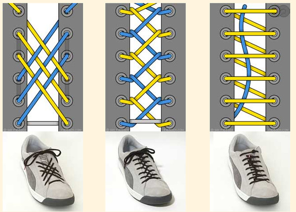 Схема шнуровки кроссовок фото