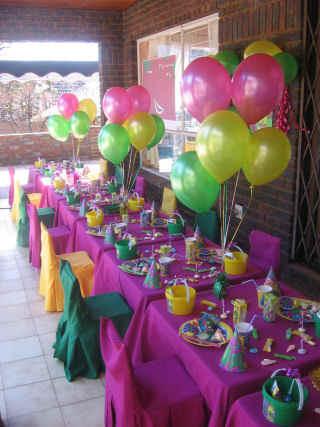 Украшение стола на день рождения своими руками