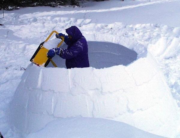 Как сделать снежную крепость своими руками