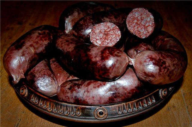 Рецепт колбасы кровянки в домашних условиях
