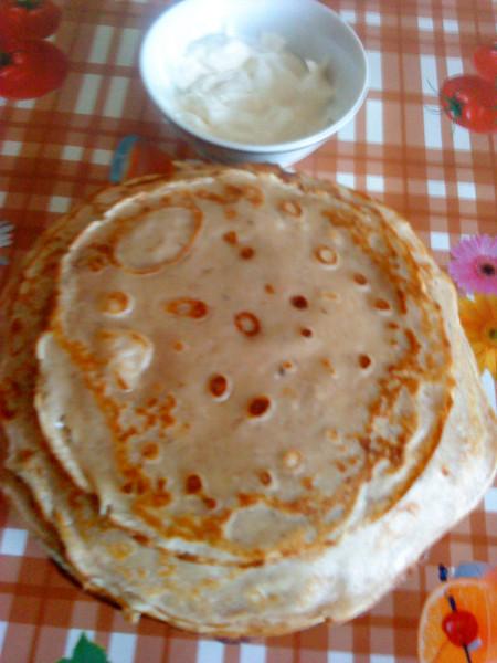 Рецепт сладких тонких блинчиков с фото