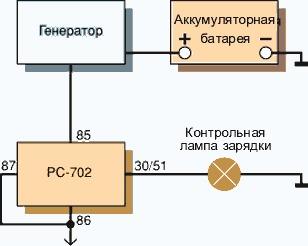 Реле рс 527 схема подключения вентилятора