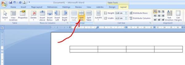 Как сделать в ворде одну ячейку для таблицы 133