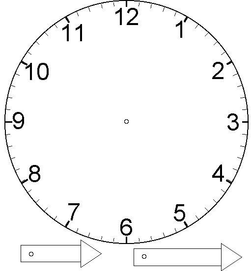 Как сделать стрелки часам из бумаги
