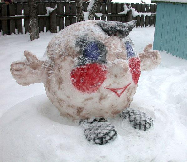 Поделки из снега и льда своими руками