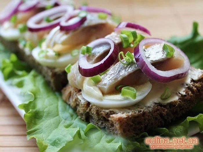 Праздничные бутерброды с сельдью рецепты