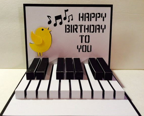 Открытка с днём рождения пианисту 29