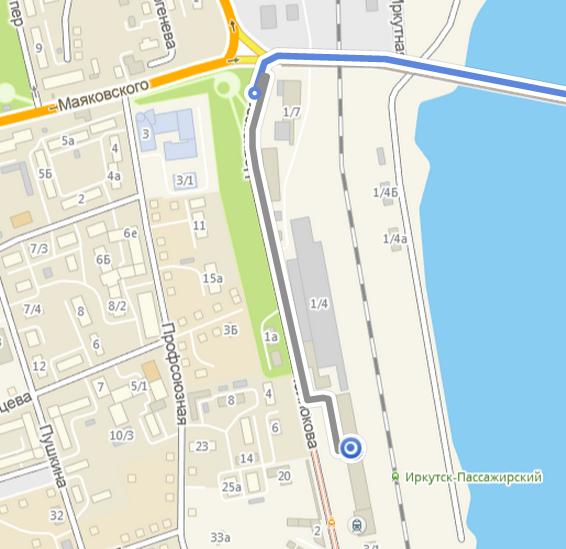 Достаточно большая и подробная карта города с возможность прокладки маршрута до нужной