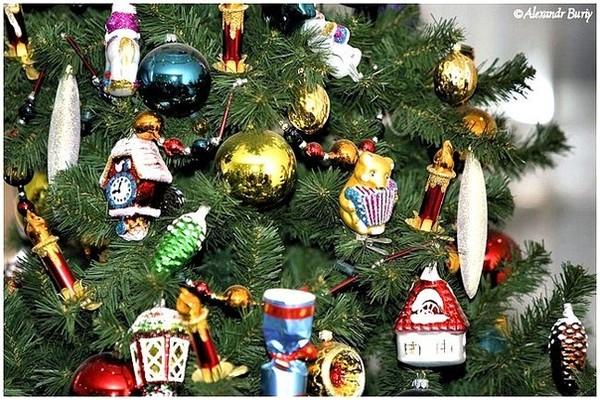 Новогодние игрушки советских времен