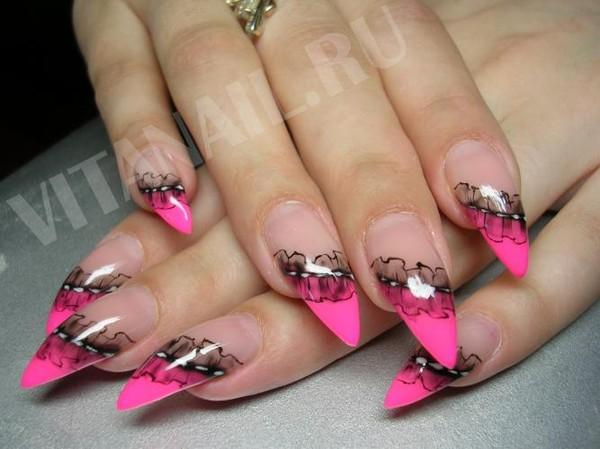 Фото рисунков на острые ногти
