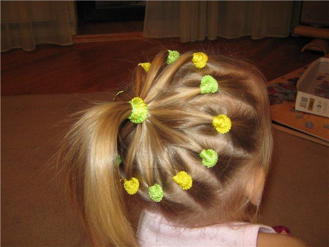 Как сделать прическу девочке маленькой