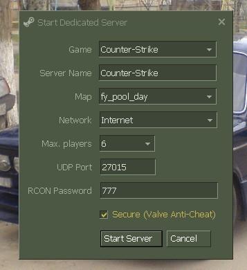 Как создать сервер в cs - Твои вещи