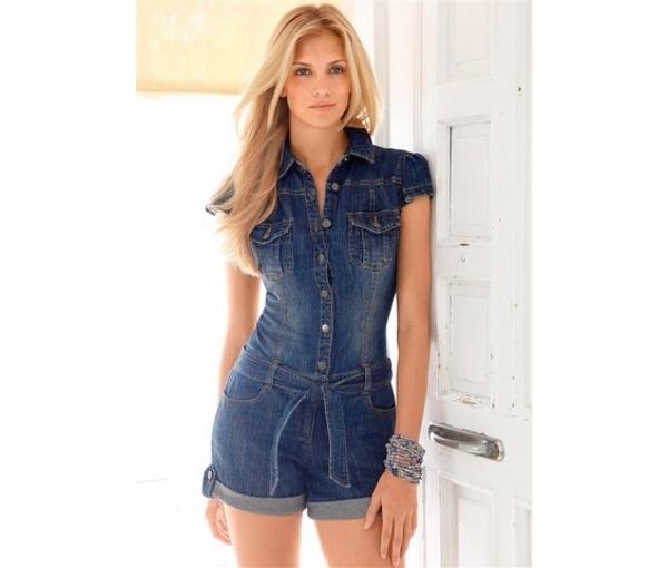 Комбинезоны летние женские джинсовые
