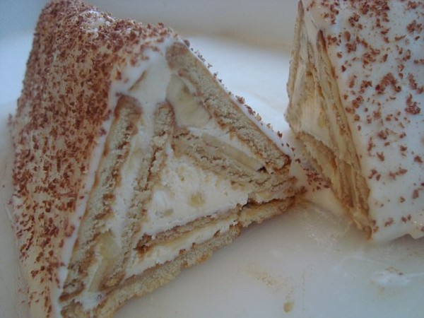 Торт с творогом и печеньем рецепты