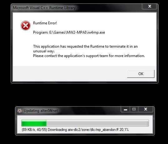 Microsoft Visual C++ Ошибка!!! . Ошибка при патче игры, уже 3 раза скачива